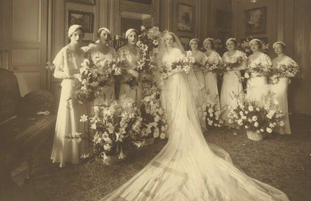 Невесты 1930-х годов в свадебных образах (41 фото)