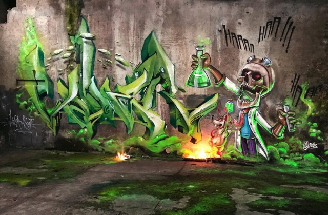 Cool graffiti from the French master 9