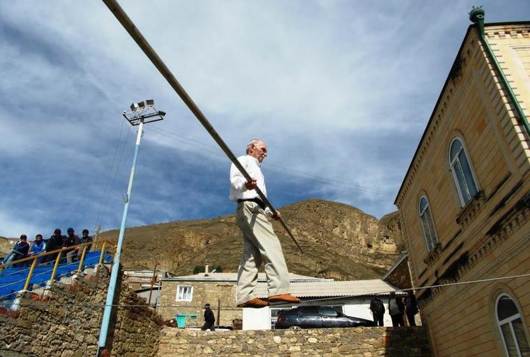 В Дагестане есть деревня канатоходцев