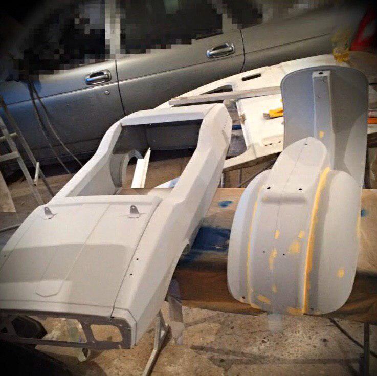 Реставрация детской педальной машины (9 фото)