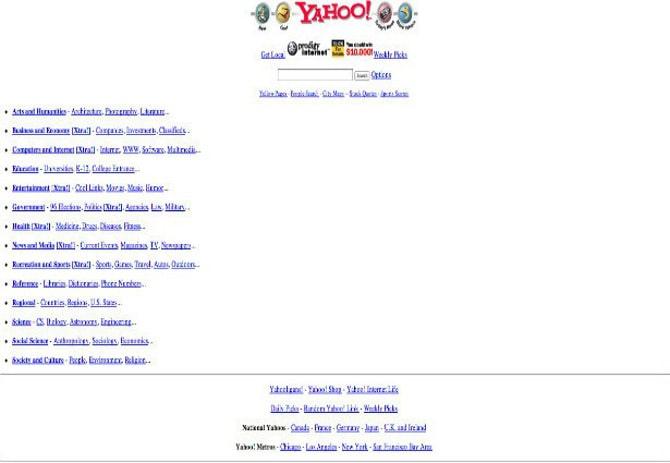 Как выглядели известные сайты на заре своей истории