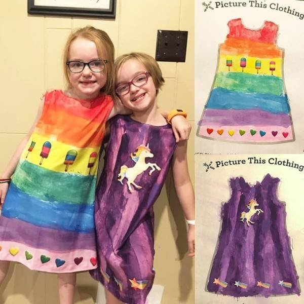 Теперь любой детский рисунок можно превратить в одежду (22 фото)
