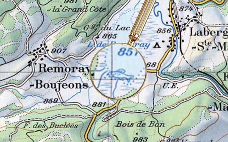 Картографы в течение десятилетий прятали на официальных картах Швейцарии едва заметные рисунки (6 фото)
