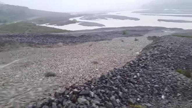 Каменная река в Новой Зеландии