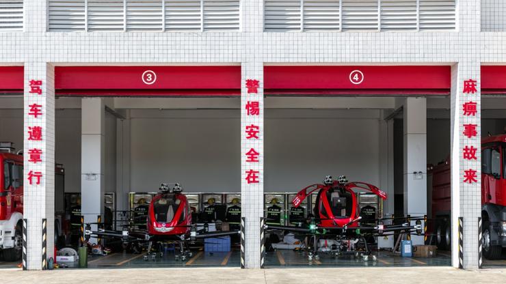 В Китае появился дрон-пожарный