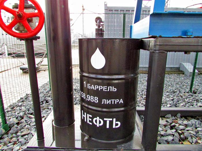 Сколько в литрах составляет один баррель нефти