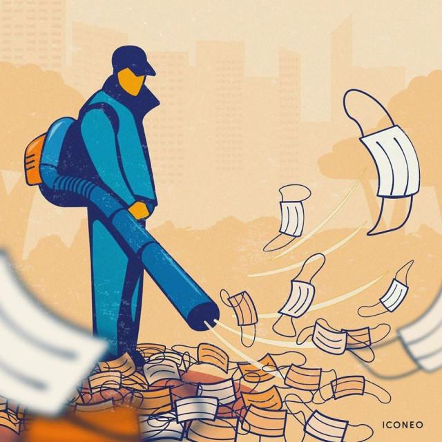 Иллюстрации ICONEO, вдохновлённые пандемией COVID-19 (14 фото)