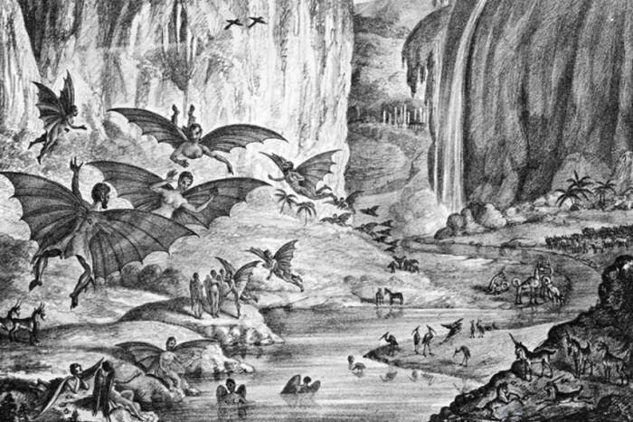 Большой лунный обман 1835 года ( 4 фото )