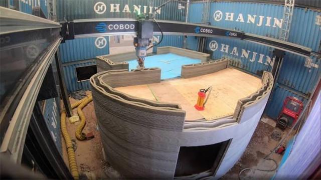 """В Бельгии """"напечатали"""" таунхаус с помощью бетонного 3D-принтера (12 фото + видео)"""