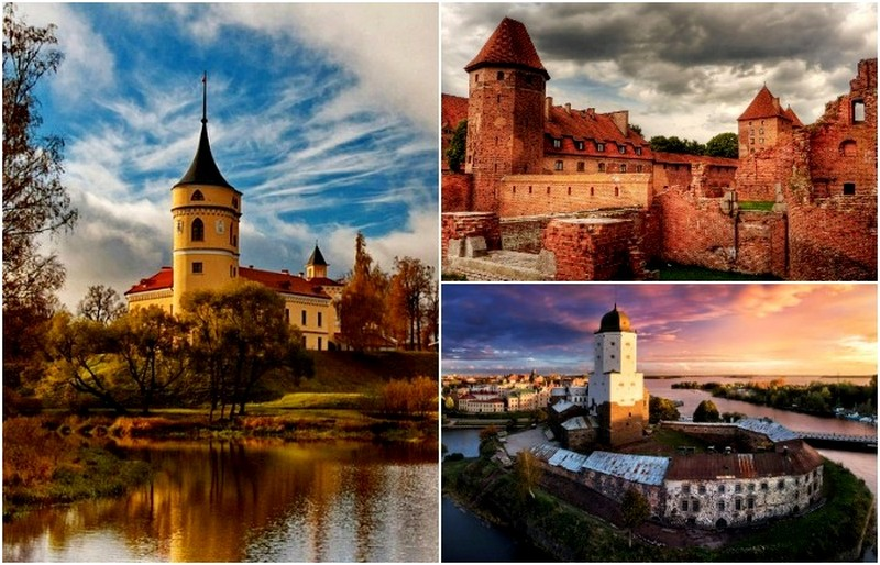 Древние (и не очень) замки, которые можно увидеть в России