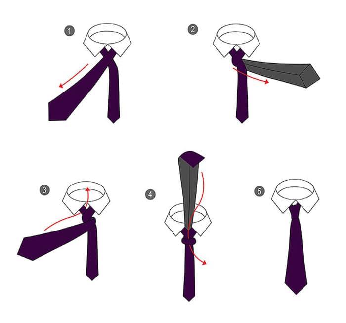 Как завязать галстук — 18 разных узлов для галстука пошагово