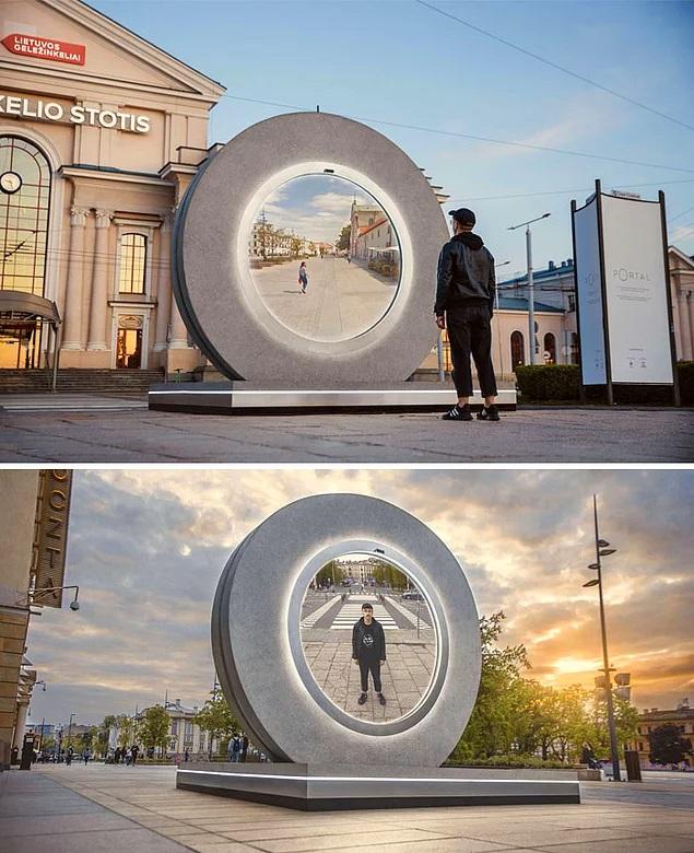 Литва и Польша построили «портал», соединяющий их два города